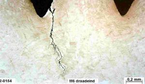 Spanningscorrosie M6 draadeind